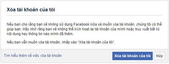 cách xóa tài khoản facebook vĩnh viễn ngay lập tức