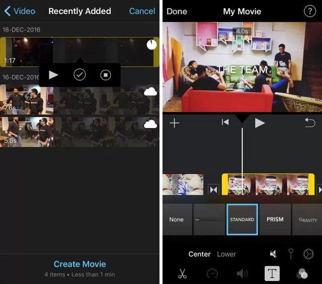ứng dụng làm video trên iphone